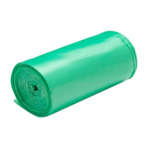 Bolsa verde para la basura